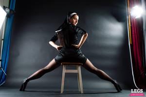 LegsEmporium Alisa Nun with Shapely Guns by LegsEmporium