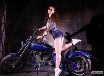 Sexy Long Legs Redhead Biker Babe - Tanya - LE by LegsEmporium