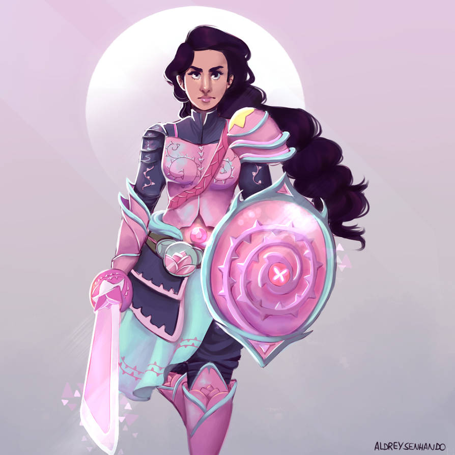 When I saw stevonnie fighting with the sword and shield like a ninja-knight, sort off, I instantly imagined them wearing a cool armor. It's kinda an old drawing but I like the result of it. &n...