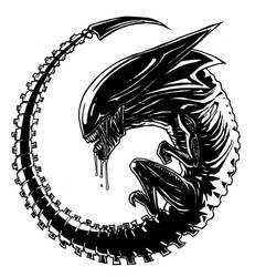 Queen Alien fetus by Aiolia81