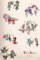 Christmas in Gensokyo by Xweetara