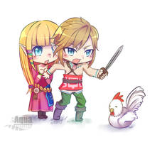 [The Legend of Zelda] I'll protect you! by AquaLeonhart