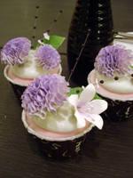 Violet Carnation Cupcakes by Sliceofcake