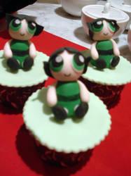 Powerpuff Buttercup Cupcakes by Sliceofcake
