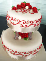 Red Roses and Filigree by Sliceofcake