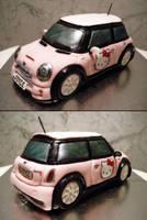 Hello Kitty Mini Cooper by Sliceofcake