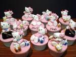 Hello Kitty Cupcakes by Sliceofcake