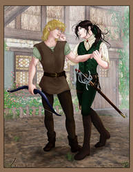 Talimenios - Alec and Seregil by fablespinner