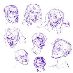 Some Facial Studies by Totalmeep