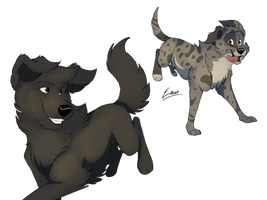 Baloo and Tibbs by Solkeyia