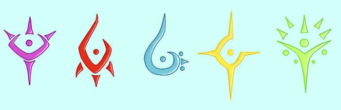 Rising Sun Symbols by Zerumi