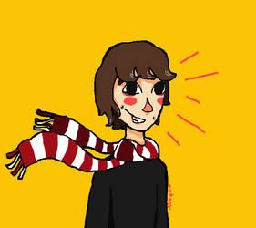 superglued human of proof (aka scarf kiddo) by Artsygirl5858