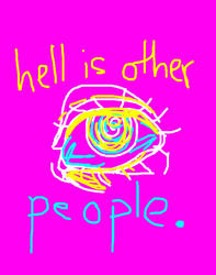god cast me out and satan sent you up (eye strain) by Artsygirl5858
