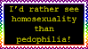 I'd rather see homosexuality than pedophilia! by SilverBeastLaguz