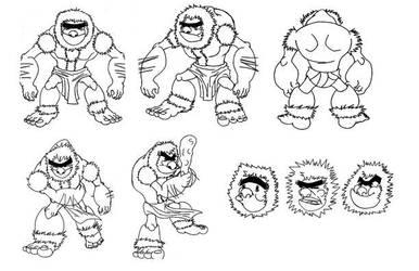 caveman character chart by Garcia777Ivan