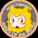 NUKOxRWBY - Award of Big Sister by geek96boolean10