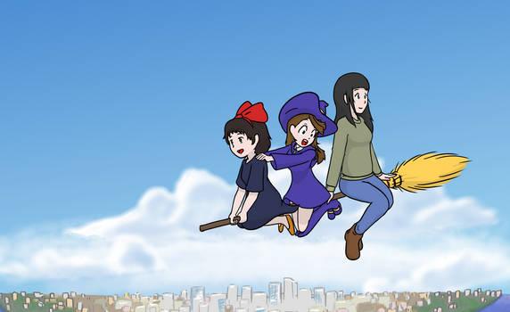 Witches - Kiki, Akko, Makoto by geek96boolean10