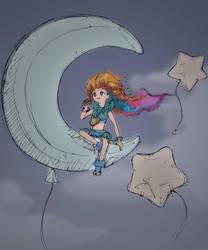 Zoe's Midnight Snack (Sketch) by geek96boolean10