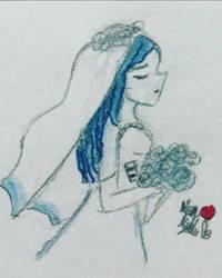Drawlloween #30: Bride by poptropicangirlannie