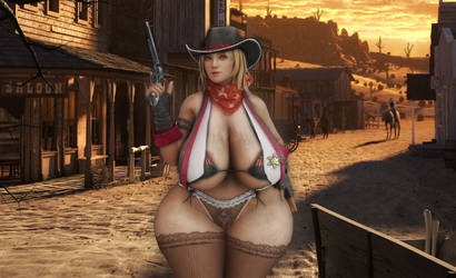 Tina cowgirl2 by michaelvr4