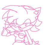 Amy as Rouge by TheLittlejadeanimal