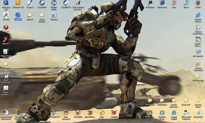 My Halo Desktop by Blaze0ne