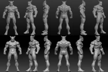 Wolverine using Sculptris by Blaze0ne