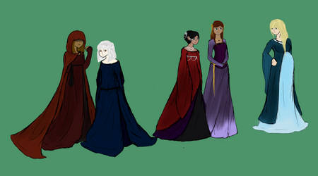 The Lovely Ladies of the Elireadean Universe by Diagonath