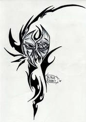 Shattered Face in Tribal by Herokip98