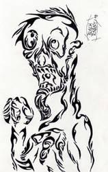 Ghoul in Tribal by Herokip98