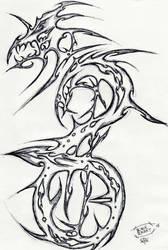 Tribal Dragon:Halberd Mix by Herokip98
