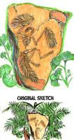 Stone Fossil Sketch by Ahkward