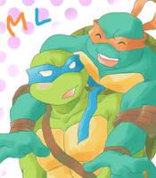 oekaki - mikey x leo by mukuto