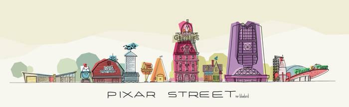 Pixar Street by Mr-Bluebird