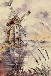 Windmill by GrimDreamArt