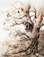 Butterflies tree by GrimDreamArt