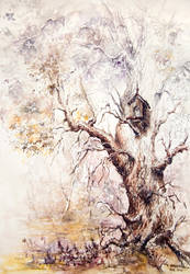 Spring Tree by GrimDreamArt