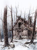 Winter Scene by GrimDreamArt