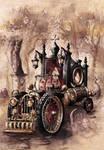 Steampunk Hearse by GrimDreamArt