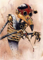 Pest Doctor by GrimDreamArt