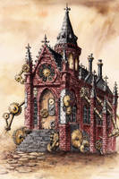 Steampunk Chapel by GrimDreamArt