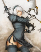 Nier Automata 2b (no blindfold) by OOQuant