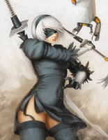 Nier Automata 2b by OOQuant