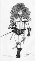 Typhoid Mary part of Daily Sketch Challenge by mrinal-rai