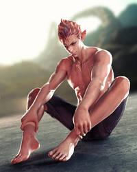 Male Siren by TenguSenpai