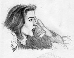 Scully sketch by ratgirl84