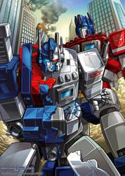 Ultra magnus and Optimus prime by GoddessMechanic