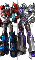 TFP - Optimus,Megatron by GoddessMechanic