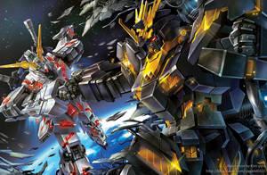 Mobile suit Gundam Unicorn by GoddessMechanic