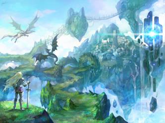 Dragon Village by GoddessMechanic